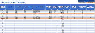 inventory basic control template with count sheet download