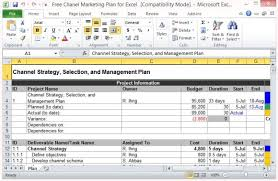 marketing action plan template excel download
