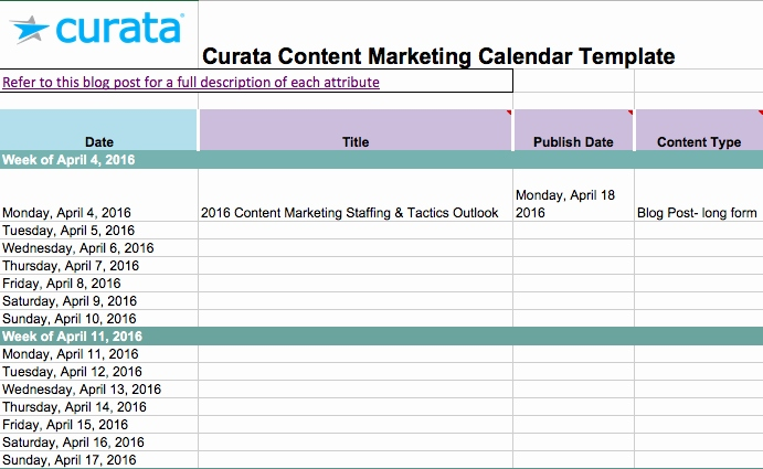 marketing spreadsheet free