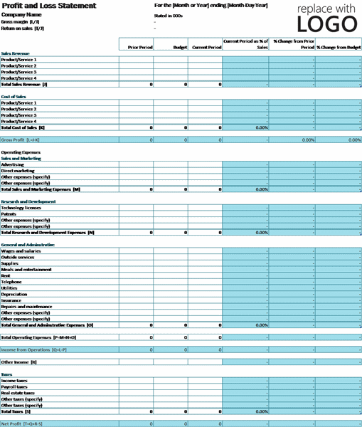 profit and loss spreadsheet template. Black Bedroom Furniture Sets. Home Design Ideas