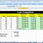 mortgage refinance comparison spreadsheet