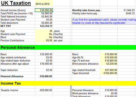 payroll tax calculator spreadsheets 2015