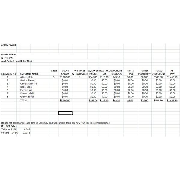 payroll tax spreadsheet template. Black Bedroom Furniture Sets. Home Design Ideas