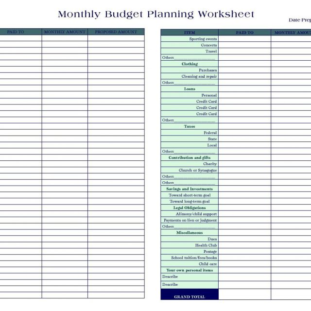 personal finance spreadsheets