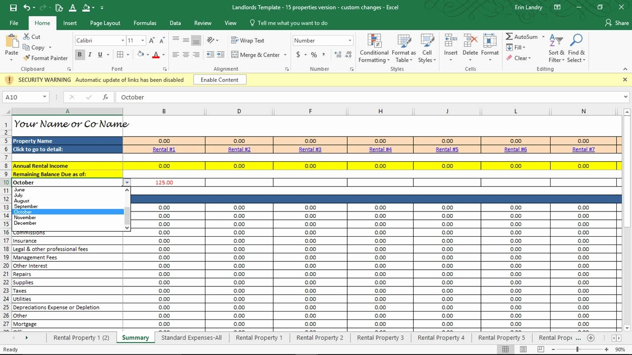 multifamily investment spreadsheet Best of Real Estate Investment Spreadsheet