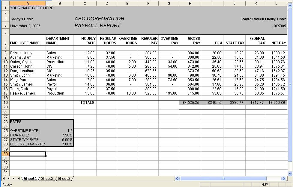 salary payroll excel sheet