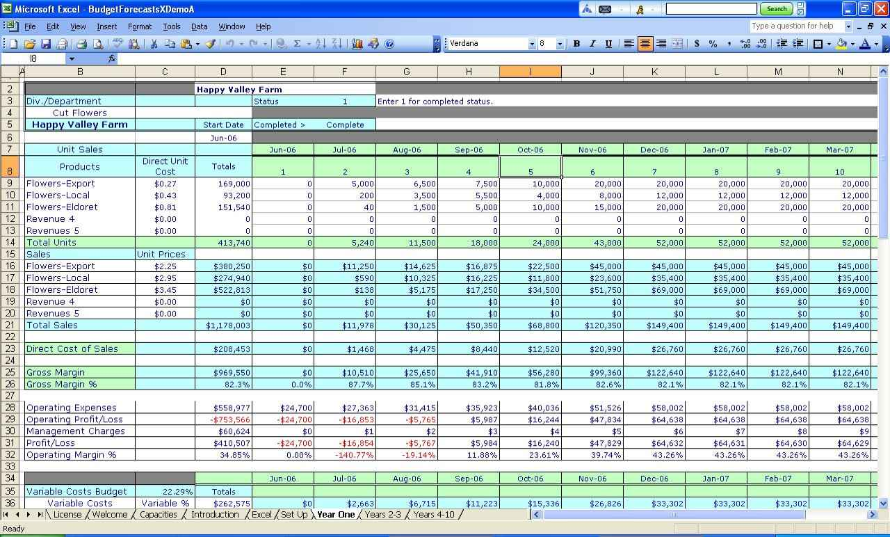 small business accounting spreadsheets excel free