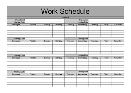 weekly work schedule template pdf download