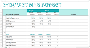 easy wedding budget download