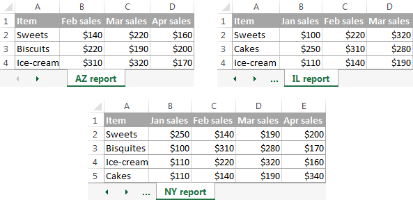 excel consolidate source data