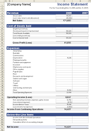 financial statement template excel download