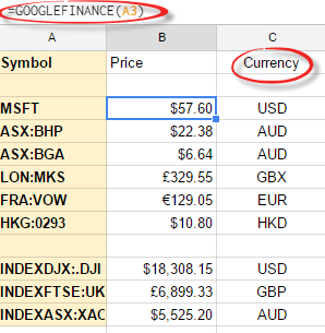 google finance excel download