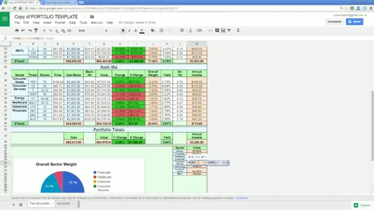 how to download google finance data into excel