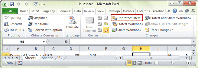 how to remove password from excel