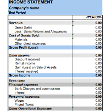 income statement excel spreadsheet download