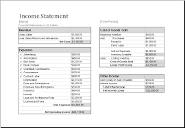 income statement template google sheets download