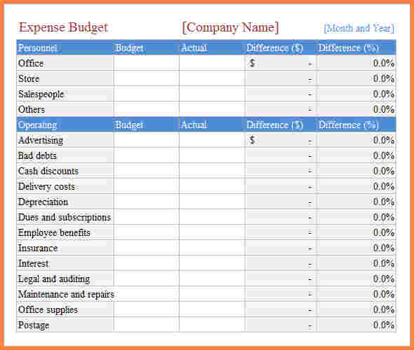 simple budget spreadsheet template