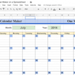 2018 monthly calendar google sheets download