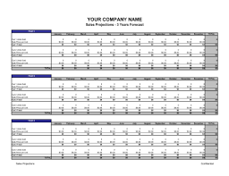 3 Year Sales Forecast Template Download
