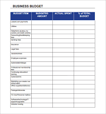 business budget planning download