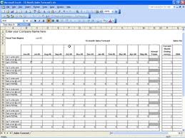 business sales projection template download