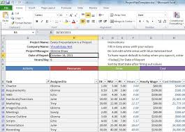 excel project management template download