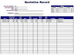 excel quote tracking template download