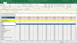 excel real estate investment templates download