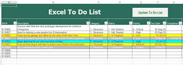 excel to do list template pdf download