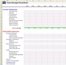 family budget example download