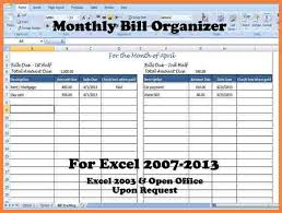 fillable monthly bill payment worksheet download