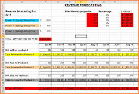 forecast excel template download