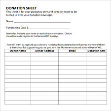 free donor management excel template download