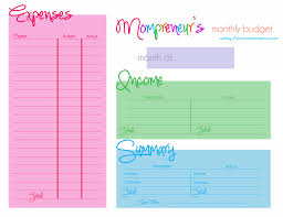 free monthly budget worksheet download