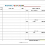 free printable personal budget template download