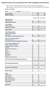 free printable profit loss forms download