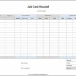 job cost analysis spreadsheet download