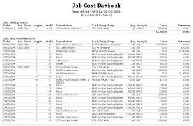 job cost daybook spreadsheet download
