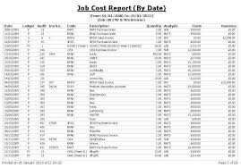 job cost report download