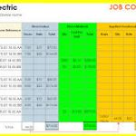 job cost spreadsheet download