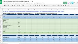 joint expense tracking spreadsheet download
