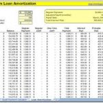 loan amortization schedule calculator download