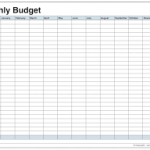 monthly budget worksheets download
