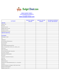 monthly expense sheet excel template download