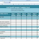 project cost analysis template download
