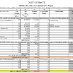 project cost estimate excel template download