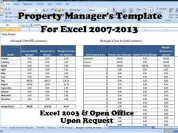 property management spreadsheet download