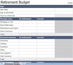 retirement income budget download