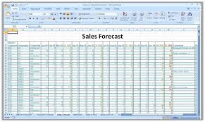 sales forecasting spreadsheet download