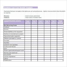 simple cost benefit analysis template xls download